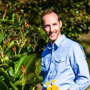 Arlington, VA - October 21, 2013: Portrait of Thomas Rainer in the border garden of his home.
