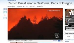 Driest year