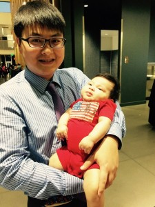 Feng Qiu and his son, Austin.