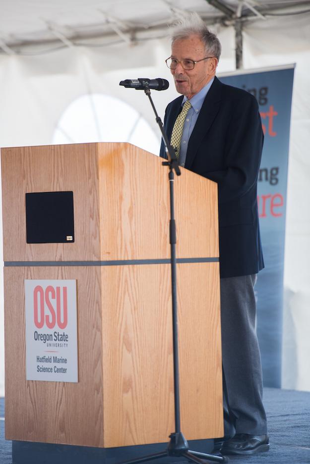 Dr. John Byrne, OSU President Emeritus and former HMSC Director