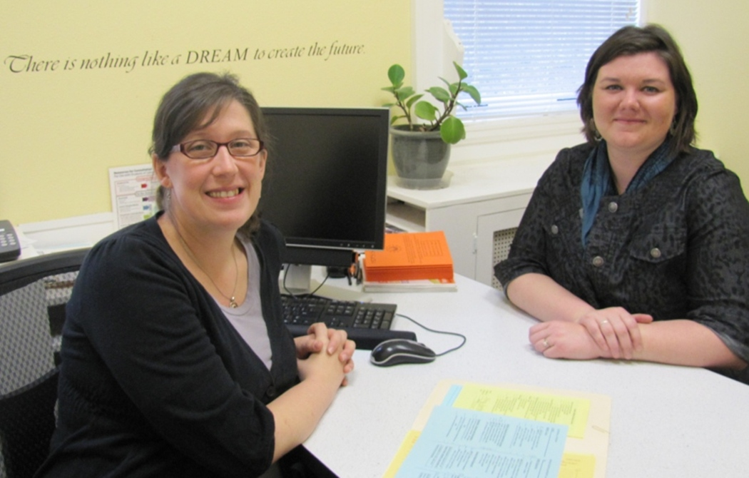 Human Development and Family Sciences E-campus advisers Melanie Jones and Brandi Hoel