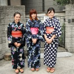 Jovan wearing a kimono on the way to a festival in Japan