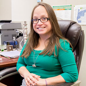 CPHHS Assistant Professor Bridget Hatfield is a researcher in the college's Hallie E. Ford Center for Healthy Children and Families.