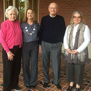 Pictured from left to right are Jo Anne Petersen; Karen Hooker, founding CHAR director and co-director of the college's School of Social and Behavioral Health Sciences; Don Petersen; and CHAR Director Carolyn Aldwin. Both Karen and Carolyn have been with the center since 2005; Karen served as director for nine years.