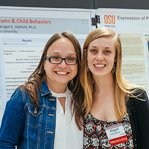 URAP HDFS student Abigail Johnstone and CPHHS Assistant Professor Bridget Hatfield.