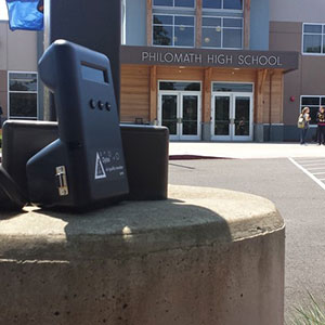 The class set up air sampling monitors around Philomath to measure air quality.