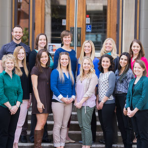 2014-2015 OSU dietetic interns with OSUDI Director Mary Cluskey, bottom left, and OSUDI Clinical Coordinator Michelle Bump, bottom right.