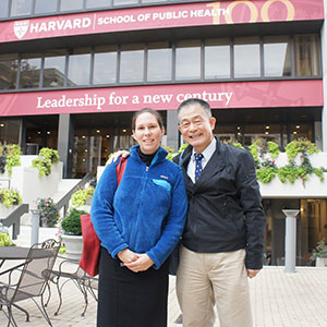 Meg and CPHHS Professor Chunhuei Chi.