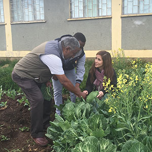 Ethiopia in garden