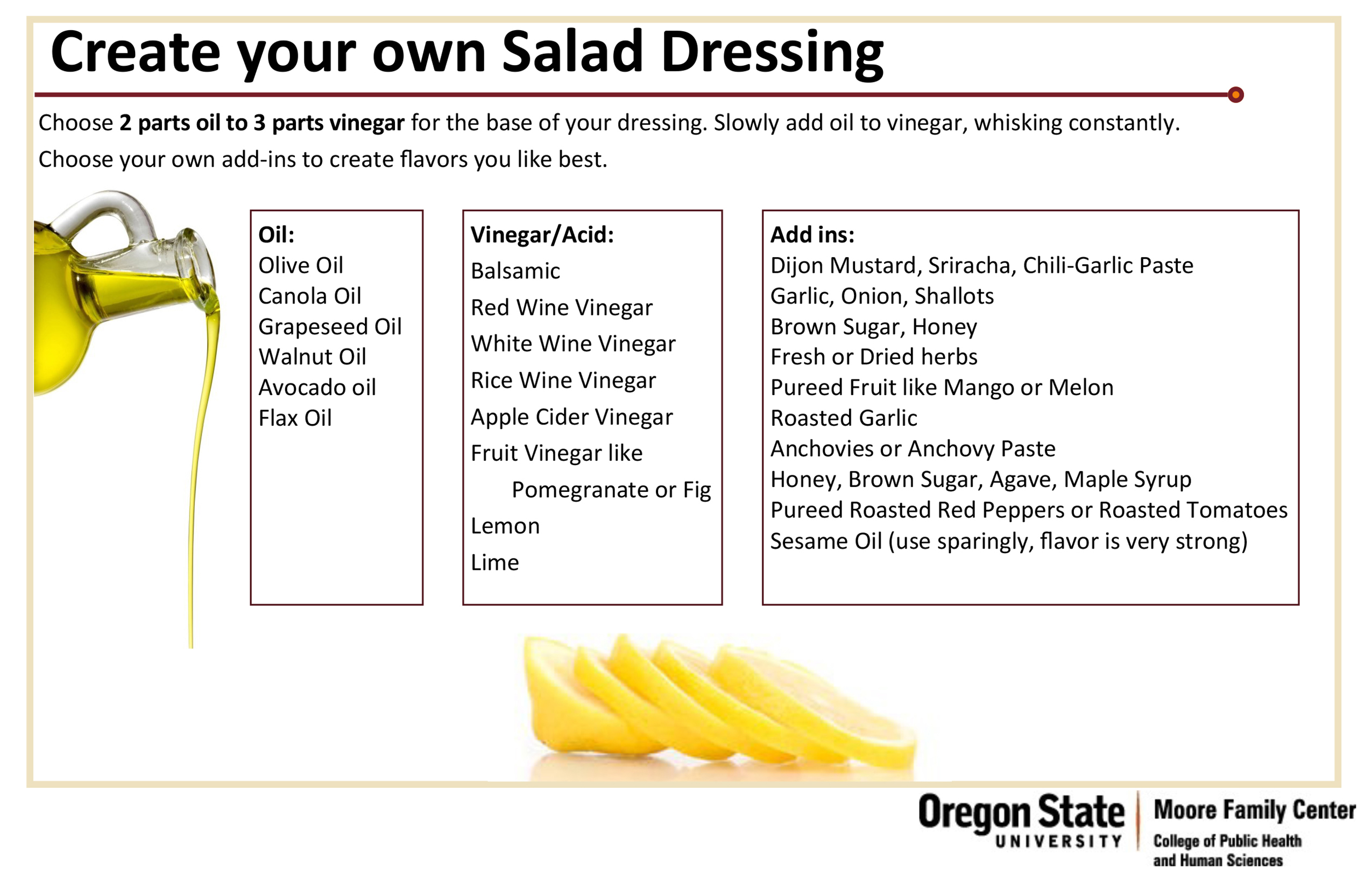 Create Your Own Dressing chart infographic