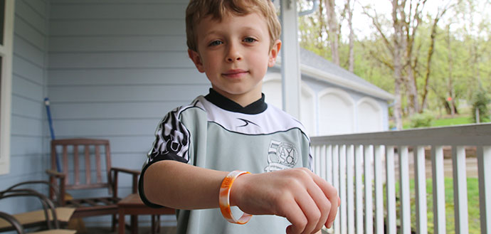 Wristband detects flame retardants in preschoolers