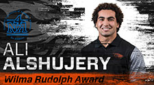 Kinesiology student-athlete Ali Alshujery honored with Wilma Rudolph Award