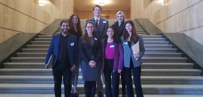 Public health students at the Oregon State Capitol