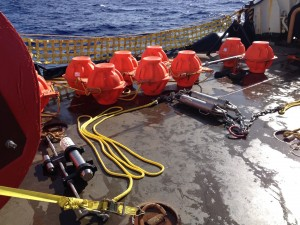 FODH mooring on deck of USCGS Sequoia