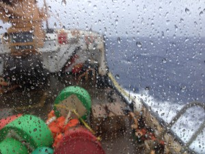 heavy seas and winds on the way to Challenger Deep