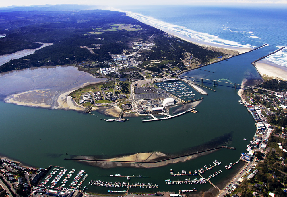 Hatfield Marine Science Center from the air