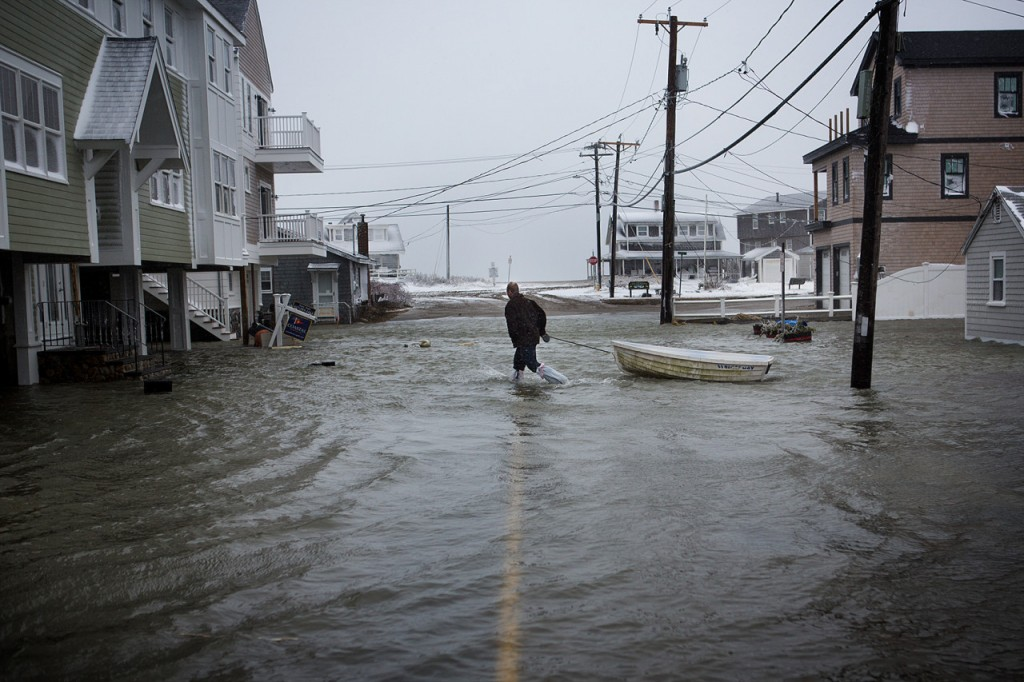 Flooding in Scituate, MA. Photo: Jesse Costa/WBUR.org