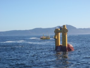 WET-NZ wave energy device test at NNMRECs North Energy Test Site.
