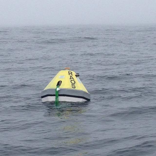 RAOS buoy off the Oregon Coast for a 5 day test before Juan de Fuca Srait deployment.