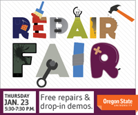 January Repair Fair graphic
