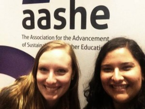 At the 2014 AASHE Conference (Portland, Oregon)
