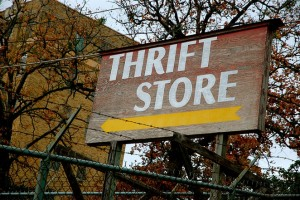 image of a thrift store sign