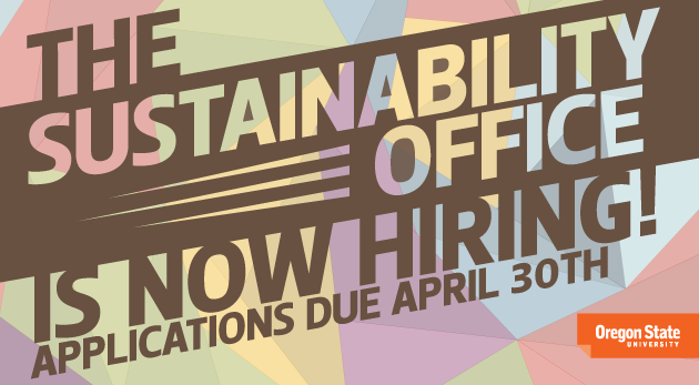 OSU Sustainability Office is Now Hiring!