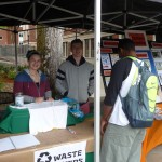 Zach staffs the Waste Watchers booth at the 2015 Community Fair. Click to view larger