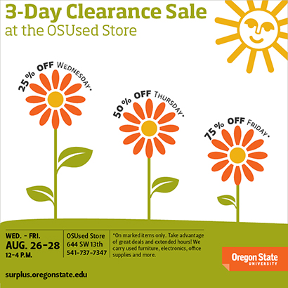 Clearance sale graphic