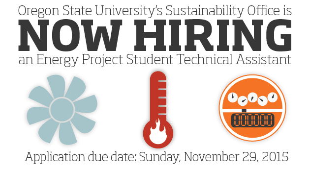 The OSU Sustainability Office is Now Hiring an Energy Project Student Technical Assistant!