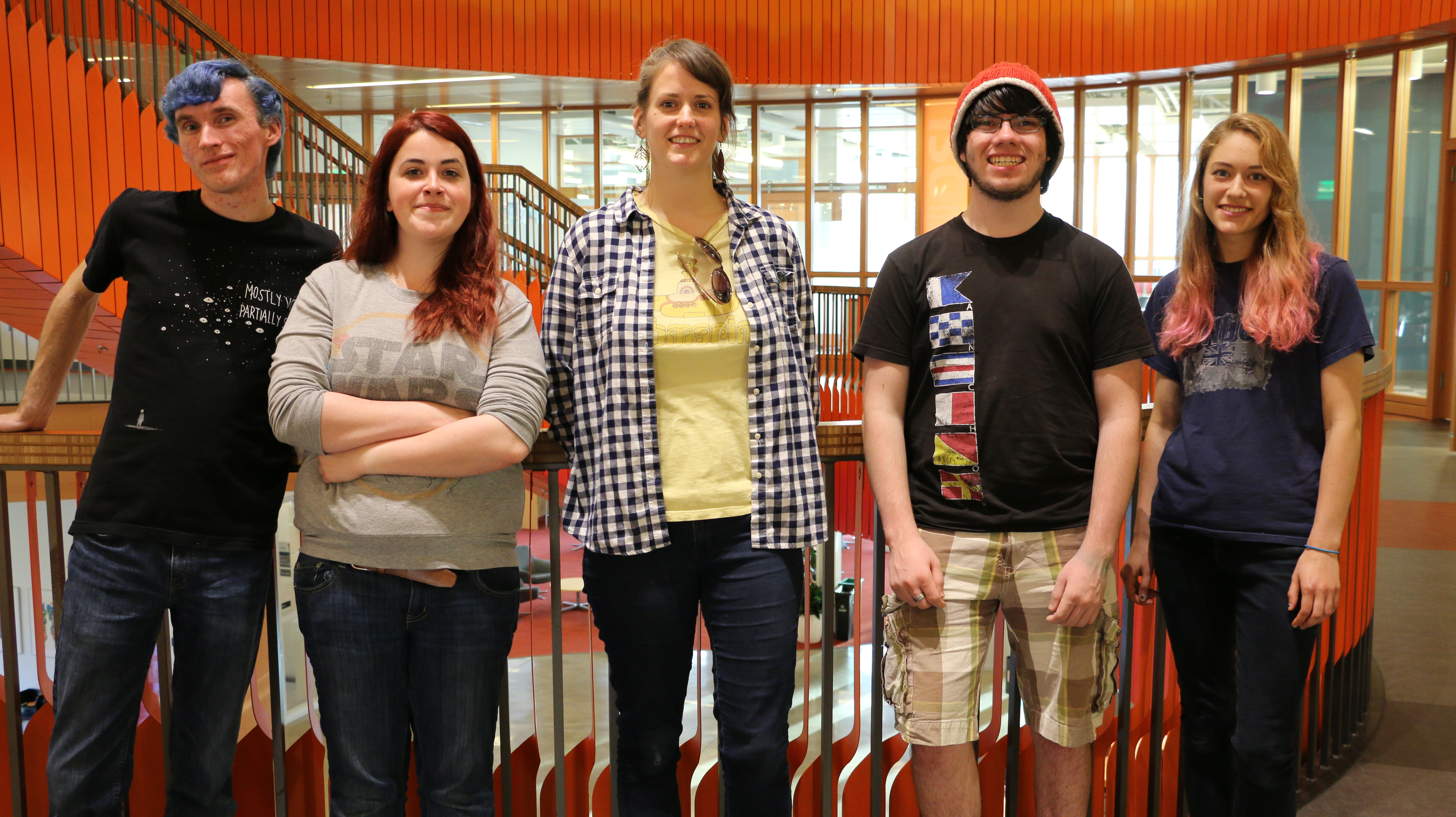 Members of the BeavsRecycle committee are pictured.