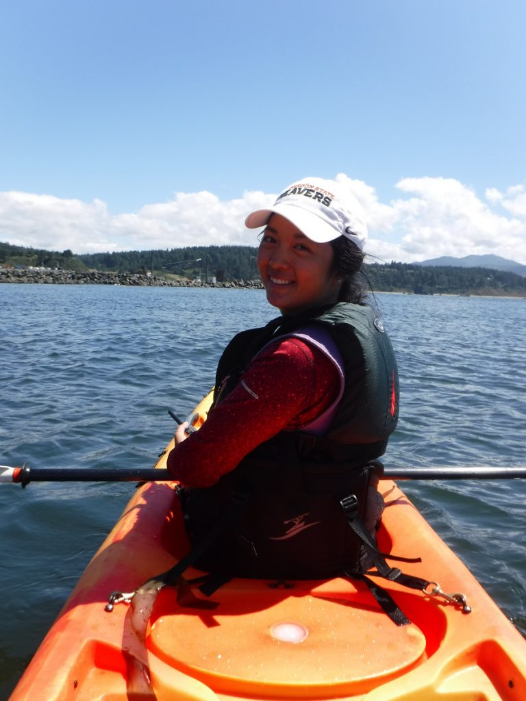 Figure 5. Me being extremely happy to be out on the kayak on a beautiful morning.