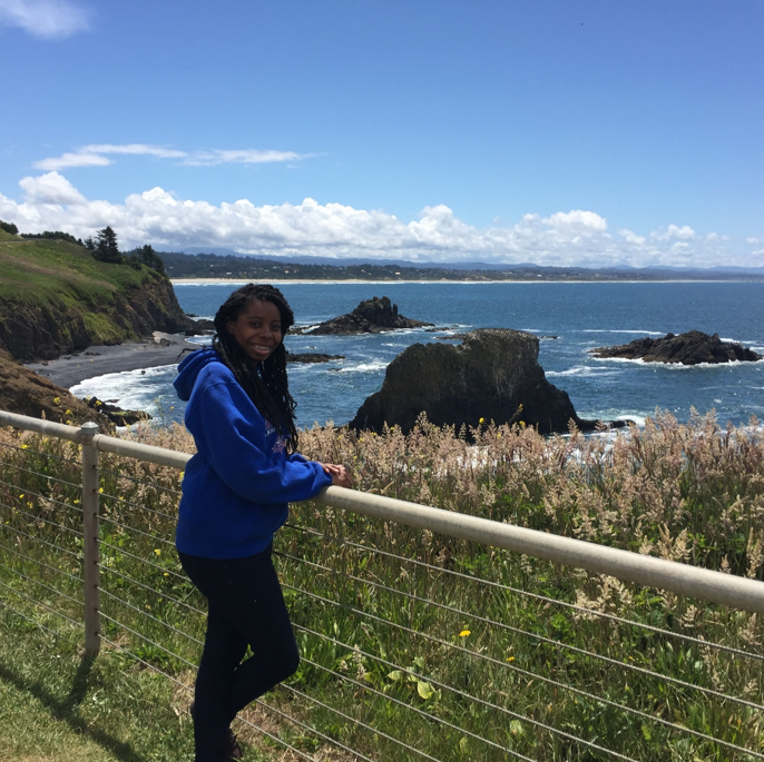 At the Yaquina Lighthouse, Photo by Katherine Bartels