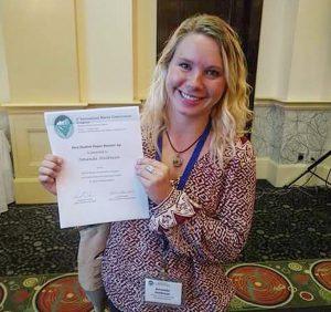 Amanda with her award!
