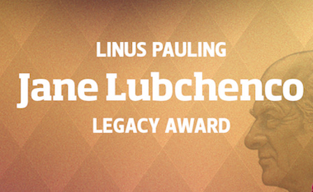 Lubchenco receives Linus Pauling Legacy Award