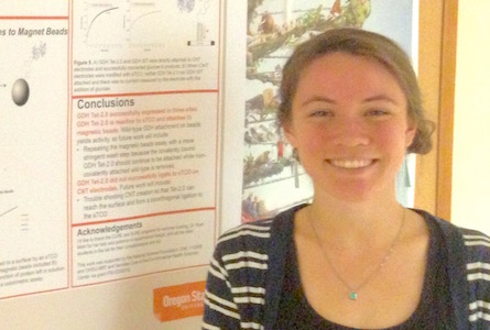 Biochemistry student wins top honors at OSU's undergraduate excellence competition