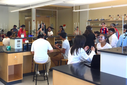 First overnight chemistry camp for Juntos high schoolers