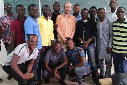Mathematics professor invited to teach in West Africa
