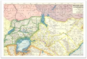 Early 20th century map of Lake Victoria