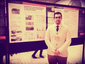 Masoud presenting his research on traffic signal control at Engineering Graduate Research Expo, Portland, Mar. 2016.