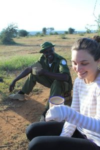 Learning about human/wildlife interactions while drinking tea with camel's milk in Laikipia, Kenya.