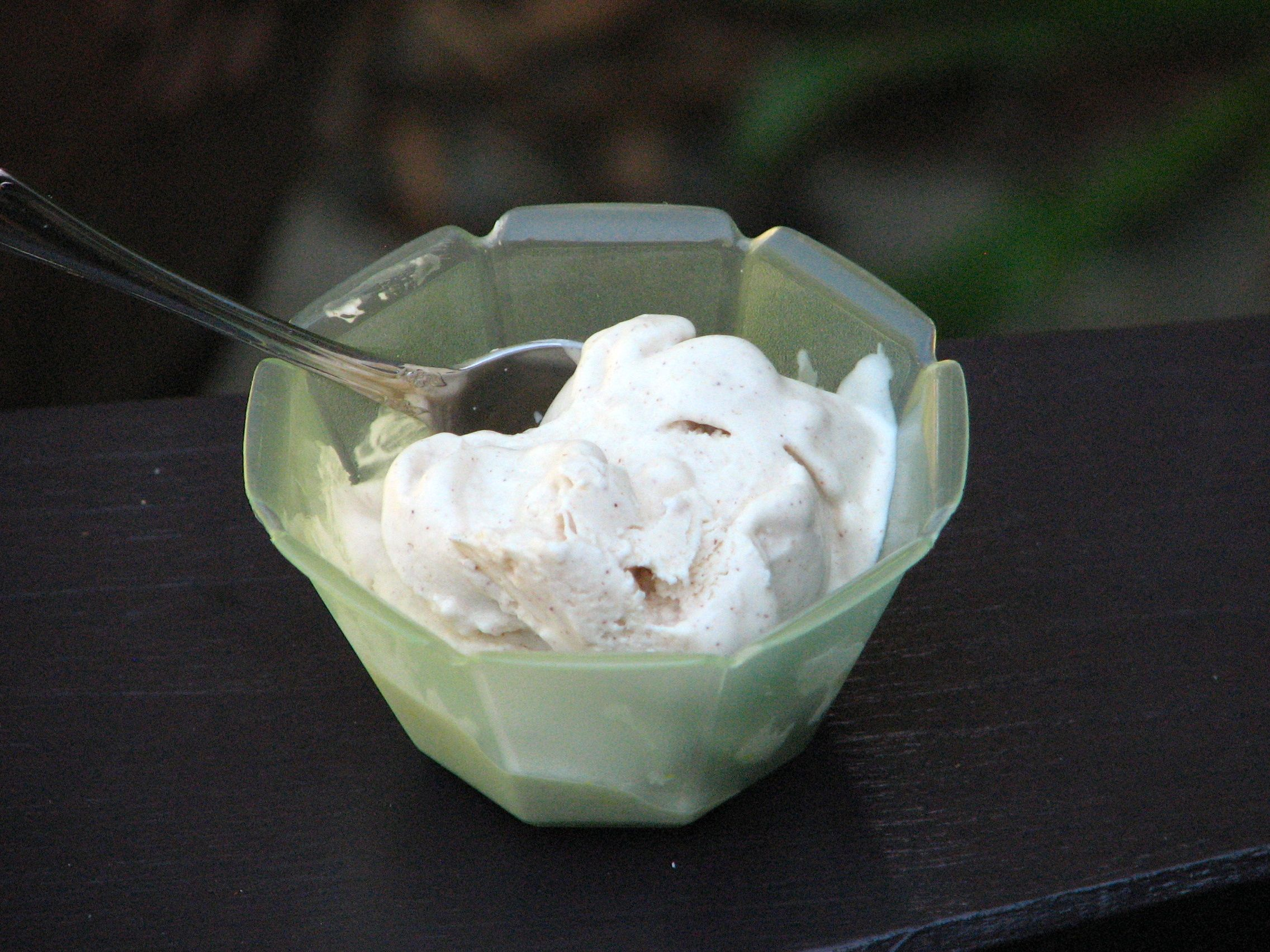 Cinnamon Coconut Frozen Greek Yogurt. See the flecks of cinnamon? Mmmm ...
