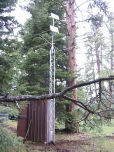 Weather stations like this Snotel station provide long-term climate data for many locations across the landscape. Photo: NRCS Oregon