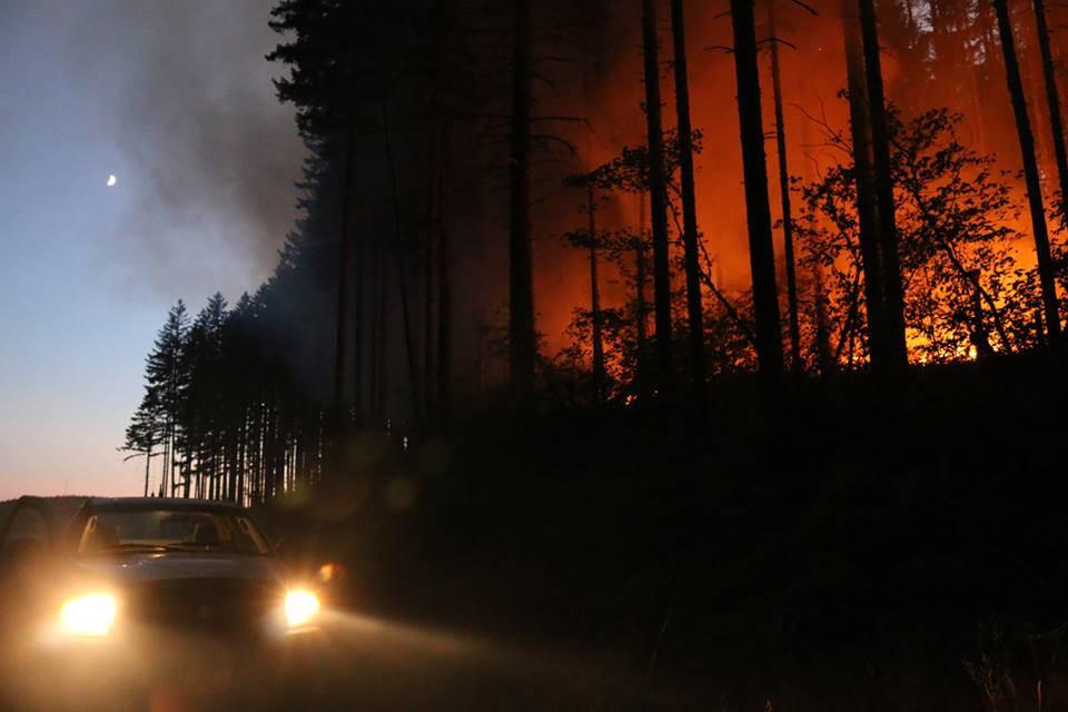 Willamina Creek fire, August 2015. Photo credit: Jen Warren, ODF flickr.com