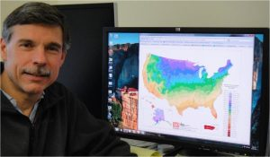 Chris Daly maps weather and climate using data collected by OST volunteers, among others. Photo: PRISM