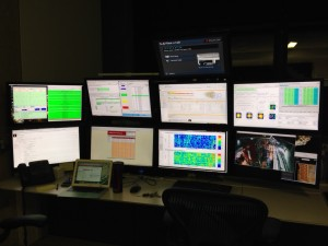 Layout of all 8 screens