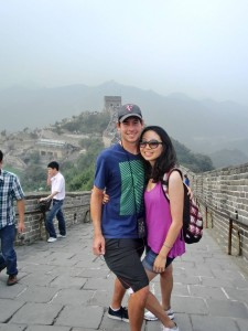 Chris and Miranda at the Great Wall.  A long way from the Quad Cities!