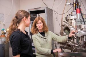 Prof. Janet Tate and graduate student Bethany Matthews.
