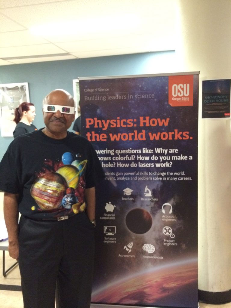 Dean Pantula came prepared for astronomy!