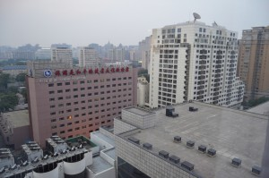 View from one of our hotel rooms in downtown Beijing.